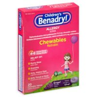 Children's Benadryl® 20-Count Allergy Chewables Tablets in Grape
