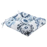 Madison Park Laguna Outdoor Seat Cushion in Indigo/Blue