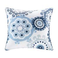 Madison Park Laguna 20-Inch Square Outdoor Throw Pillow in Indigo/Blue