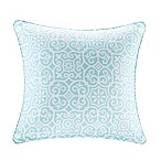 Madison Park Aptos 20-Inch Square Outdoor Throw Pillow in Aqua