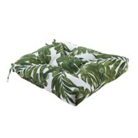 Madison Park Everett Square Outdoor Seat Cushion in Green