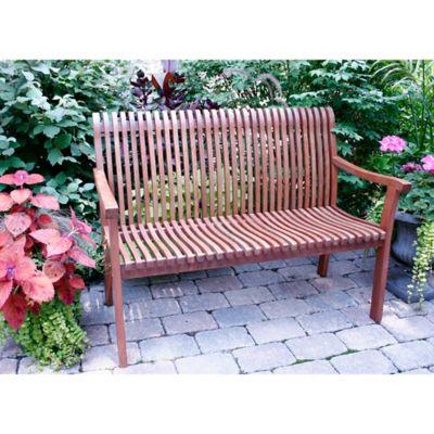 outdoor interiors venetian eucalyptus bench