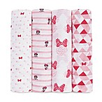 aden® Disney by aden + anais® 4-Pack Minnie Muslin Swaddle Blankets in Red/White