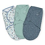 SwaddleMe® 3-Pack Large Mountaineer Boy Original Swaddles in Green