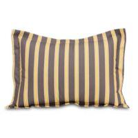 Glenna Jean Melrose Striped Pillow Sham in Marigold/Charcoal