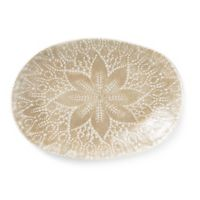 viva by VIETRI Lace Large Oval Platter in Natural