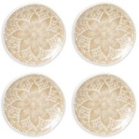 viva by VIETRI Lace Cocktail Plates in Natural (Set of 4)