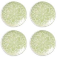 viva by VIETRI Lace Cocktail Plates in Pistachio (Set of 4)