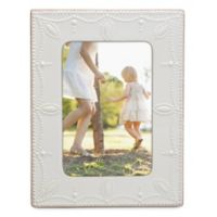 Lenox® French Perle™ 4-Inch x 6-Inch Picture Frame in White