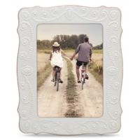 Lenox® French Perle™ 5-Inch x 7-Inch Picture Frame in White