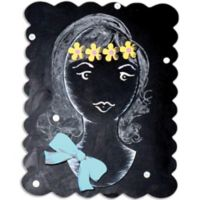 Letter2word Babes & Kiddos 2-Piece Dollface Chalkboard Wall Decal Set