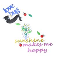 ddf5a1e90 Letter2word Babes   Kiddos Sunshine Flower Wall Decal Set
