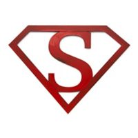 Letter2word Babes & Kiddos Superman Icon 11-Inch x 15-Inch Wall Art