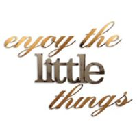 """Letter2word Babes & Kiddo 4-Piece """"Enjoy the Little Things"""" Wall Decal Set"""