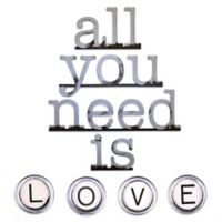 """Letter2word Babes & Kiddos """"All You Need is Love"""" 32-Inch x 40-Inch Wall Art"""