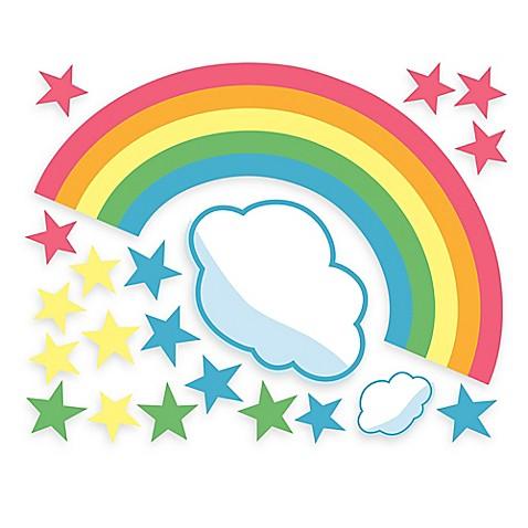Wallies Rainbow Room Peel & Stick Wall Decals - Bed Bath & Beyond