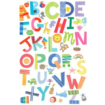 Wall Decor Wallies Alphabet Fun L Stick Decals