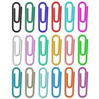 Wallies 18-Pack Hang it Up Paper Clips Wall Decals