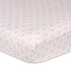 Just Born® Keepsake Trellis Printed Fitted Crib Sheet in Pink