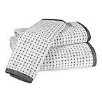Ana Grid Washcloth in White