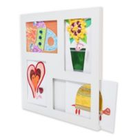 The Articulate Gallery 9-Inch x 12-Inch Slot Sided Quadruple Frame for Children's Art in White
