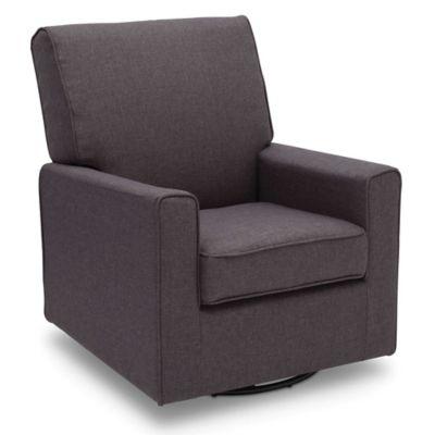 upholstered gliders u003e delta children eva swivel rocker chair in charcoal - Glider Rocker Chair