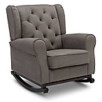 Delta Children Emma Tufted Rocking Chair in Graphite