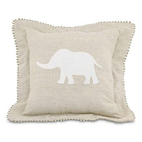 Just Born® Keepsake Elephant Throw Pillow in Flax
