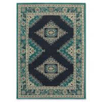Oriental Weavers Highlands Bordered Floral 5-Foot 3-Inch x 7-Foot 6-Inch Area Rug in Blue
