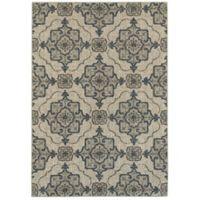 Oriental Weavers Highlands Geometric Floral 3-Foot 10-Inch x 5-Foot 5-Inch Scatter Rug in Beige