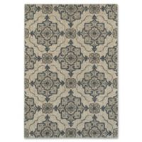 Oriental Weavers Highlands Geometric Floral 5-Foot 3-Inch x 7-Foot 6-Inch Area Rug in Beige