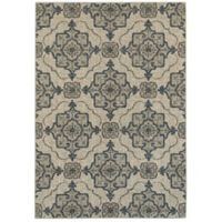 Oriental Weavers Highlands Geometric Floral 6-Foot 7-Inch x 9-Foot 6-Inch Area Rug in Beige