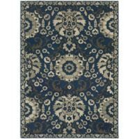Oriental Weavers Highlands Floral 7-Foot 10-Inch x 10-Foot 10-Inch Area Rug in Midnight