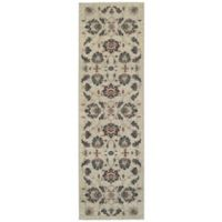 Oriental Weavers Highlands Floral 2-Foot 3-Inch x 7-Foot 6-Inch Runner in Beige