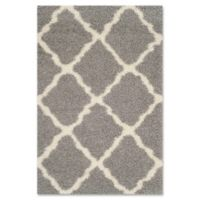 Safavieh Dallas 5-Foot 1-Inch x 7-Foot 6-Inch Shag Area Rug in Grey/Ivory