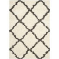 Safavieh Dallas 6-Foot x 9-Foot Shag Area Rug in Ivory/Dark Grey