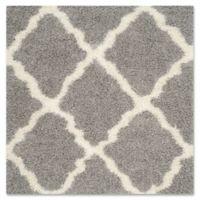 Safavieh Dallas 8-Foot Square Shag Area Rug in Grey/Ivory
