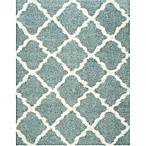 Safavieh Dallas 8-Foot x 10-Foot Shag Area Rug in Seafoam/Ivory