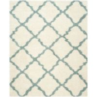 Safavieh Dallas 8-Foot x 10-Foot Shag Area Rug in Ivory/Light Blue