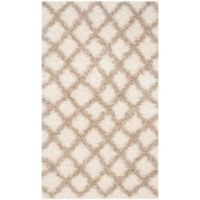 Safavieh Dallas 3-Foot x 5-Foot Shag Area Rug in Ivory/Beige