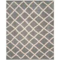 Safavieh Dallas 10-Foot x 14-Foot Shag Area Rug in Grey/Ivory