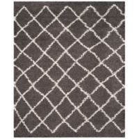 Safavieh Dallas 10-Foot x 14-Foot Shag Area Rug in Dark Grey/Ivory