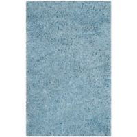 Safavieh Florence 3-Foot x 5-Foot Shag Area Rug in Light Blue