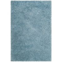 Safavieh Florence Shag 4-Foot x 6-Foot Area Rug in Light Blue