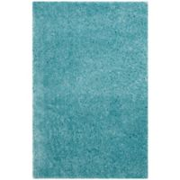 Safavieh Indie 4-Foot x 6-Foot Shag Area Rug in Turquoise
