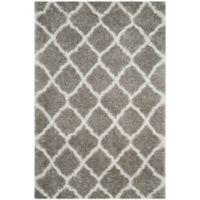 Safavieh Indie 3-Foot x 5-Foot Shag Area Rug in Grey/Ivory