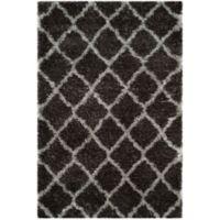 Safavieh Indie 4-Foot x 6-Foot Shag Area Rug in Dark Grey/Grey