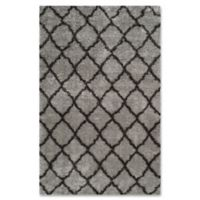 Safavieh Indie 5-Foot 1-Inch x 7-Foot 6-Inch Shag Area Rug in Grey/Dark Grey