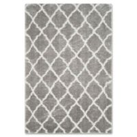 Safavieh Indie 5-Foot 1-Inch x 7-Foot 6-Inch Shag Area Rug in Grey/Ivory