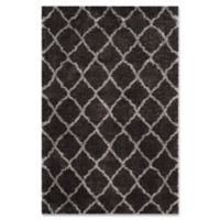 Safavieh Indie 5-Foot 1-Inch x 7-Foot 6-Inch Shag Area Rug in Dark Grey/Grey